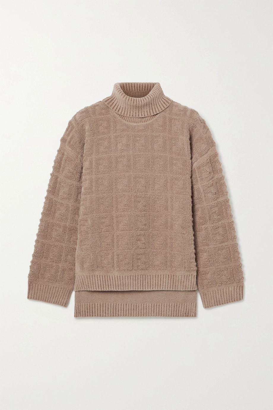 Fendi Oversized bouclé turtleneck sweater