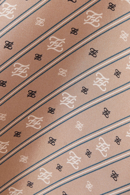 Fendi Chemisier en satin de soie imprimé