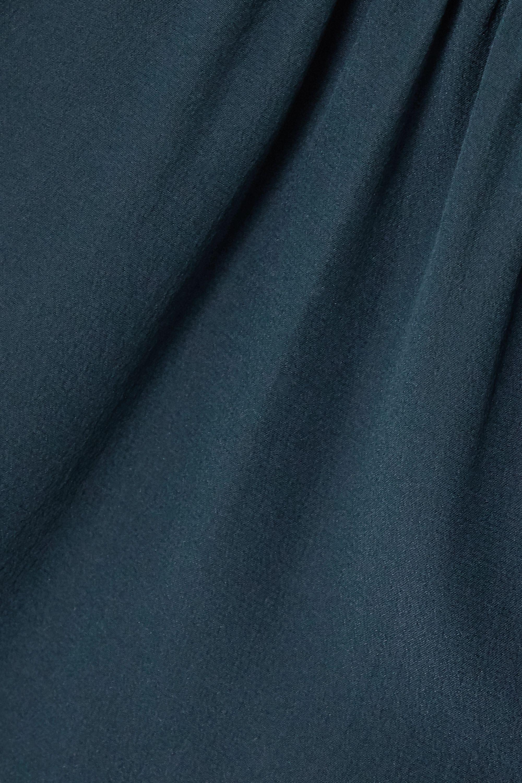 Fendi Tie-detailed silk crepe de chine blouse
