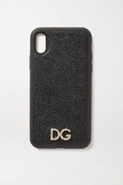 Dolce & Gabbana Crystal-embellished textured-leather iPhone XR case