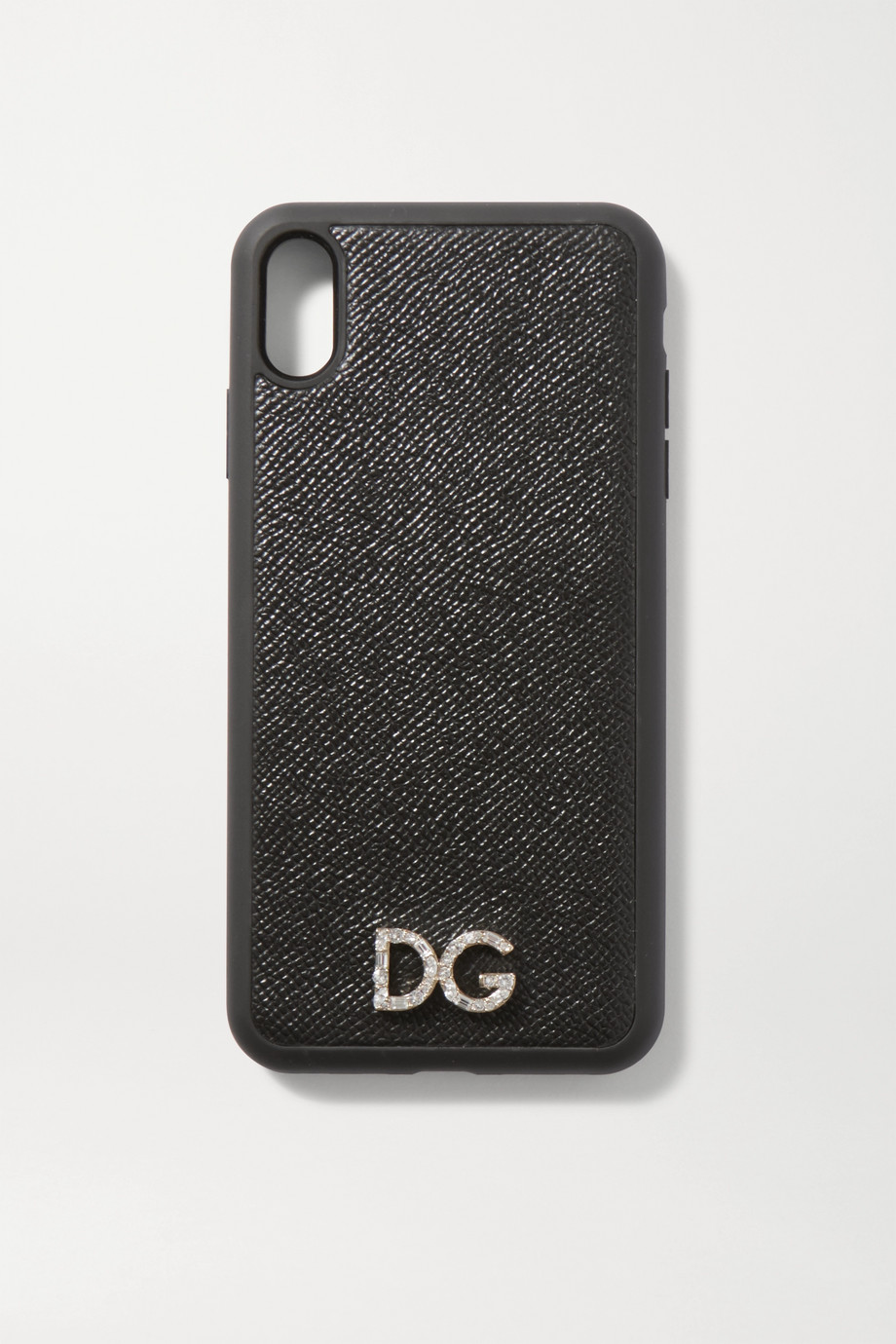 Dolce & Gabbana Crystal-embellished textured-leather iPhone XS Max case