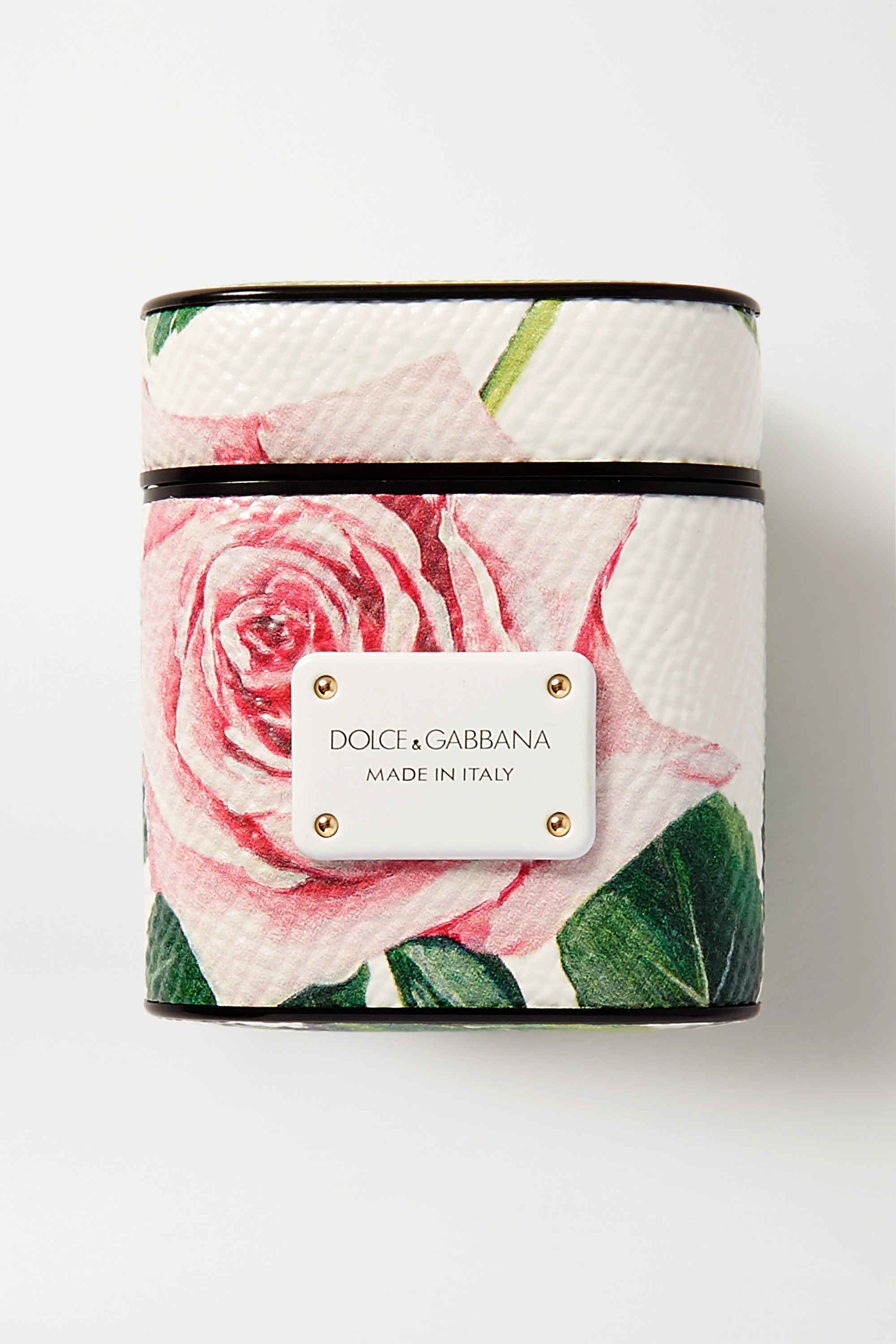 Dolce & Gabbana Floral-print textured-leather AirPods case