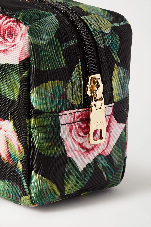 Dolce & Gabbana Floral-print nylon cosmetics case