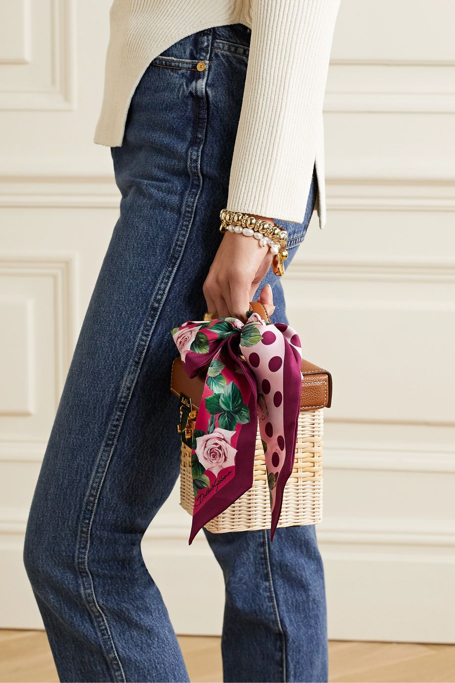 Dolce & Gabbana Foulard en serge de soie à imprimé fleuri