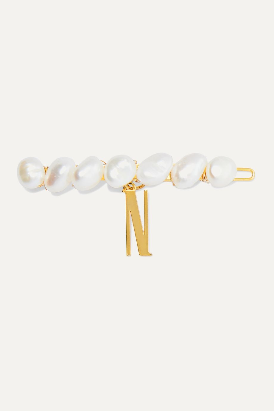 LELET NY Gold-plated freshwater pearl hair clip