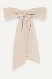 Frayed linen hairclip