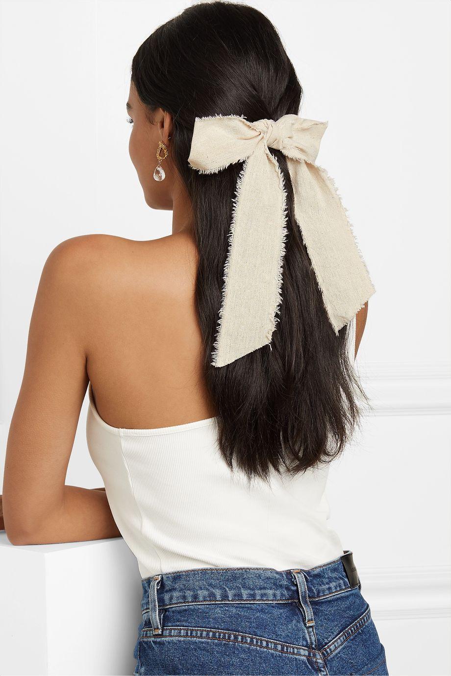 LELET NY Frayed linen hairclip