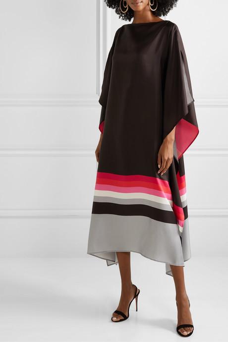 Fillmore printed silk-twill dress