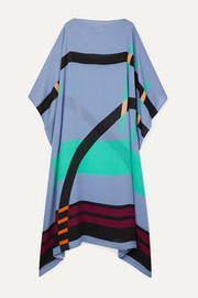 Louisa Parris Pompe printed silk-georgette dress