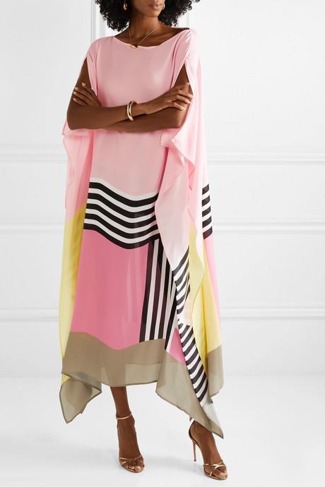 Cadell printed silk-georgette dress