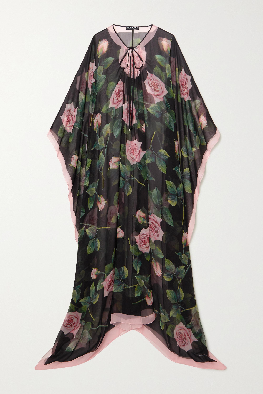 Dolce & Gabbana Floral-print silk-chiffon dress
