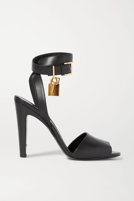 Black Embellished leather sandals | TOM FORD fZgp5f