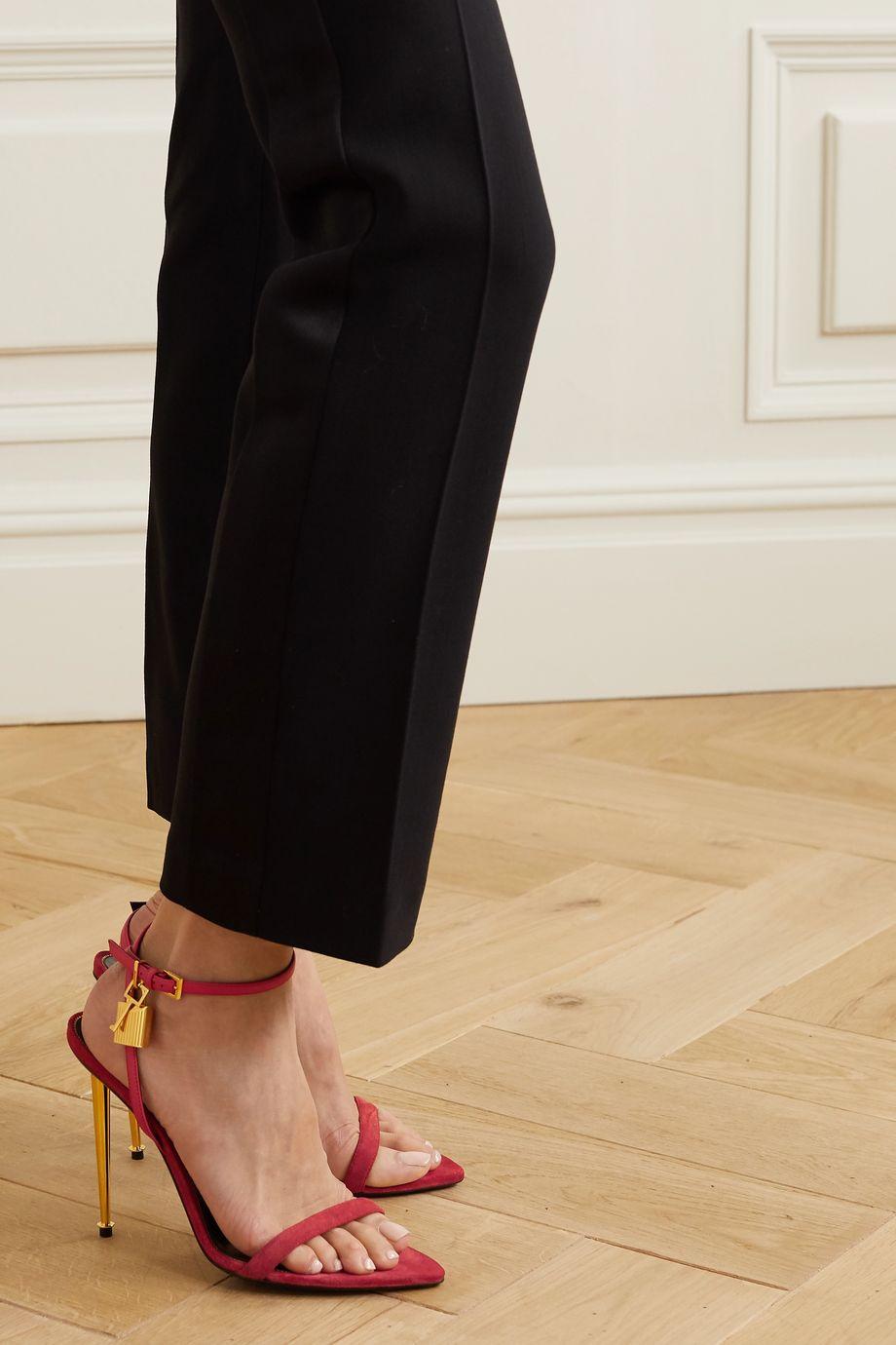 TOM FORD Padlock embellished leather sandals