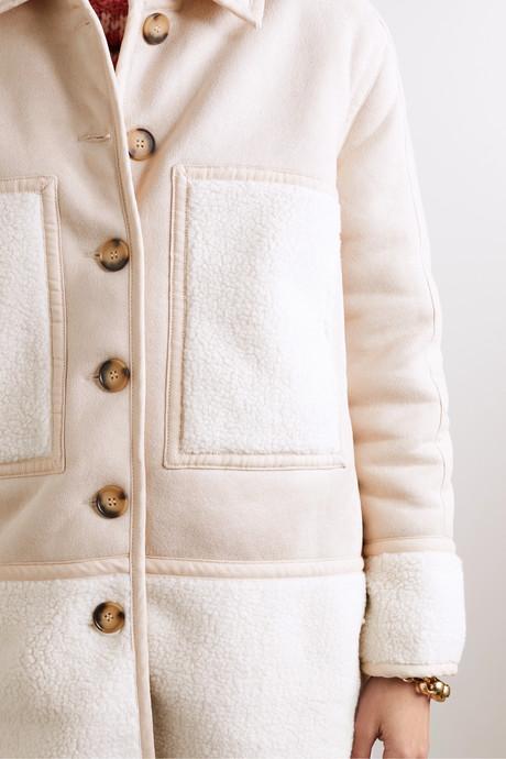 Graham vegan shearling coat