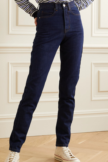 Johnny high-rise straight-leg jeans