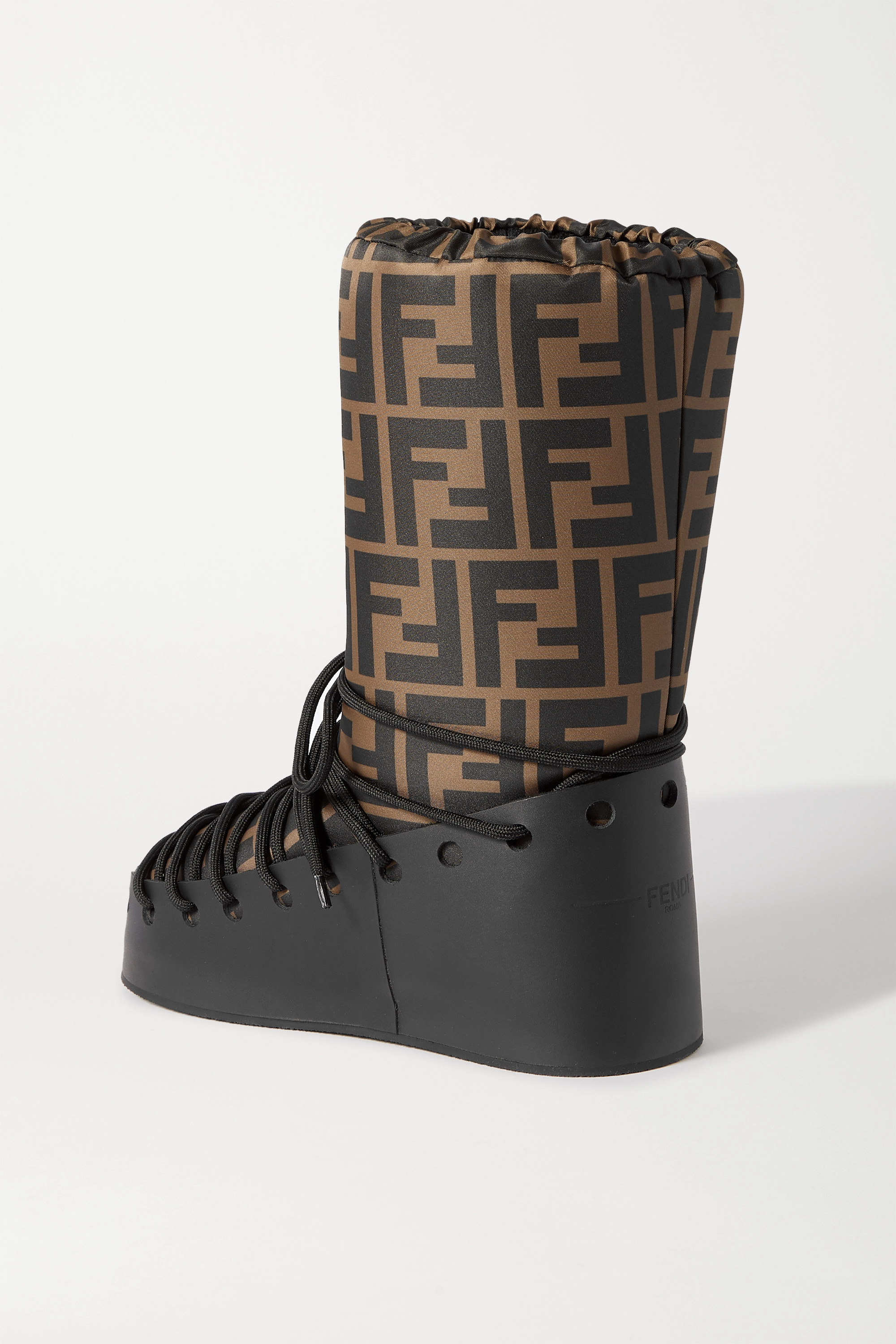 Fendi Printed shell and leather snow boots