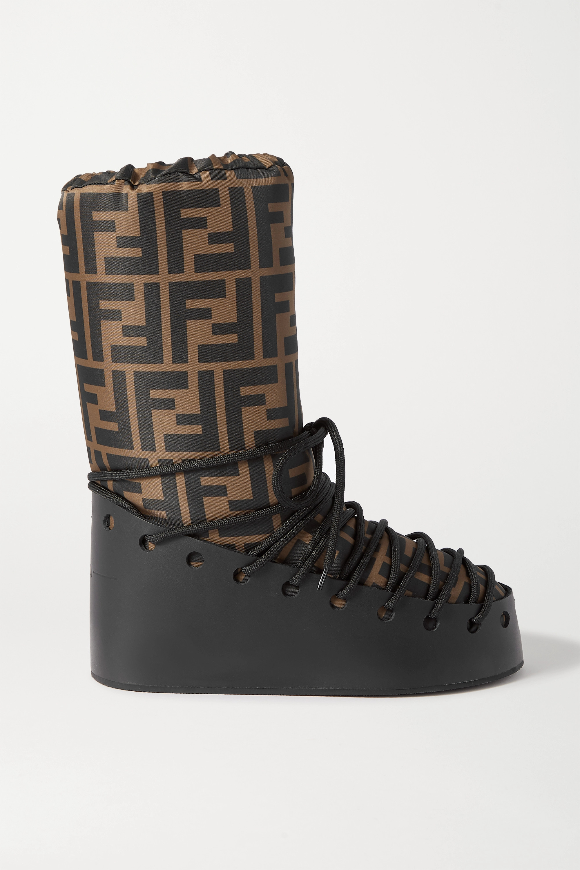 leather snow boots | Fendi