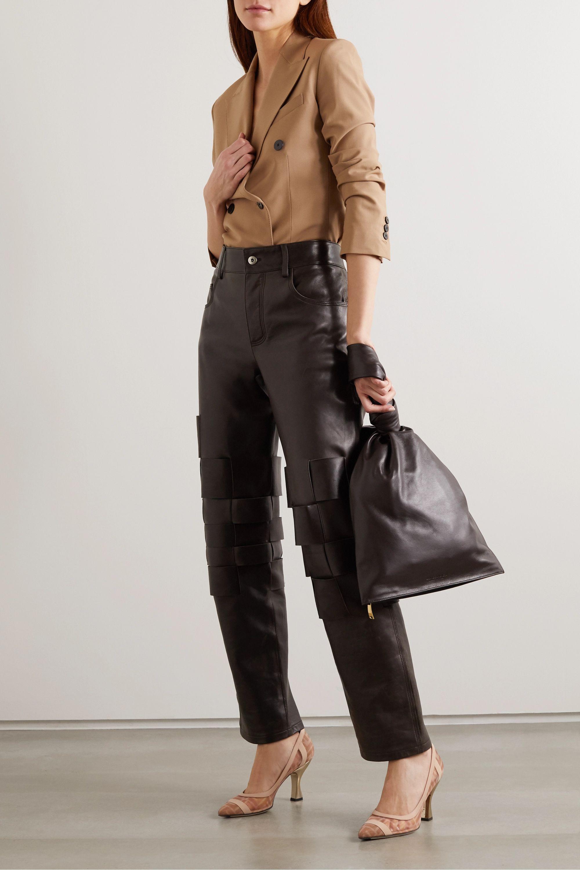 Fendi Colibrì logo-print mesh and leather pumps