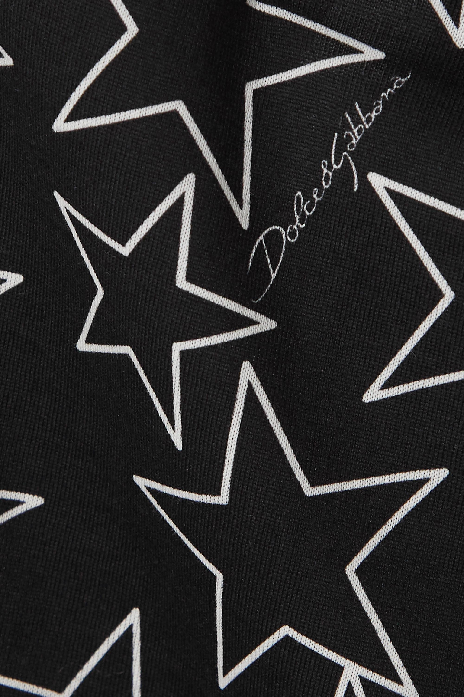 Dolce & Gabbana Printed cotton-jersey camisole