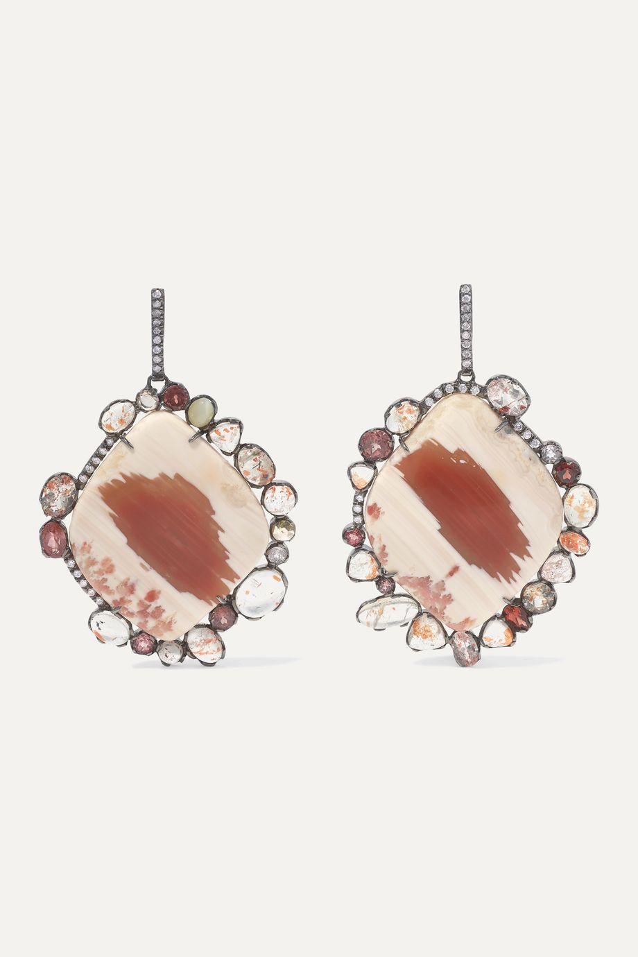 Kimberly McDonald 18-karat gold multi-stone earrings