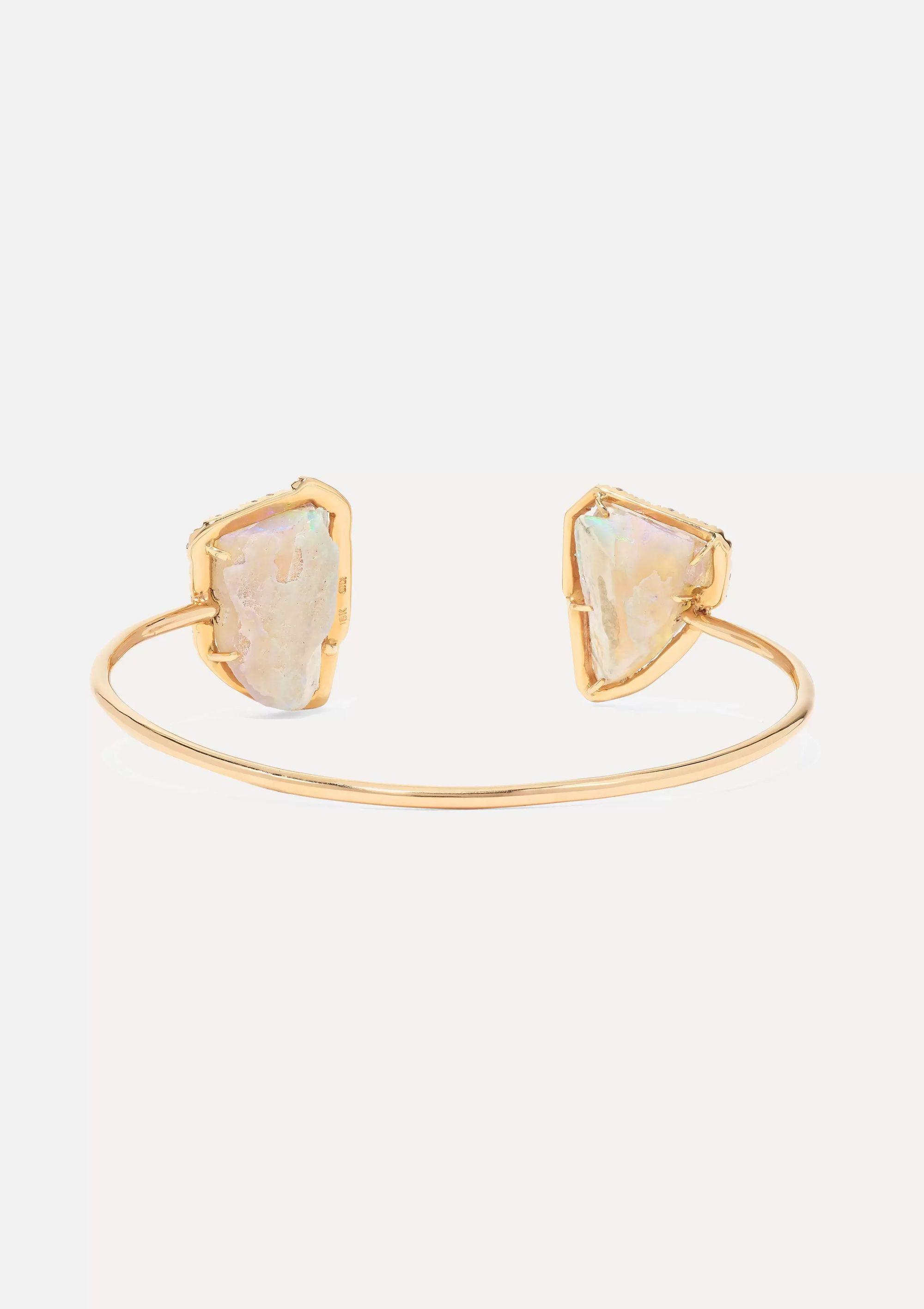 Kimberly McDonald 18-karat rose gold, opal and diamond cuff