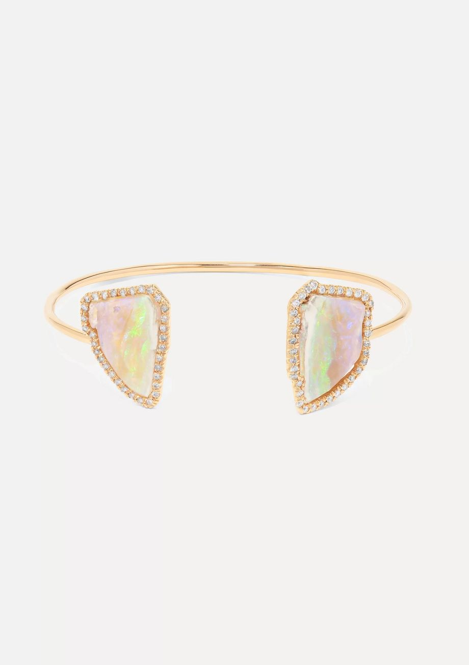 Kimberly McDonald 18-karat rose gold, opal and diamond cuff