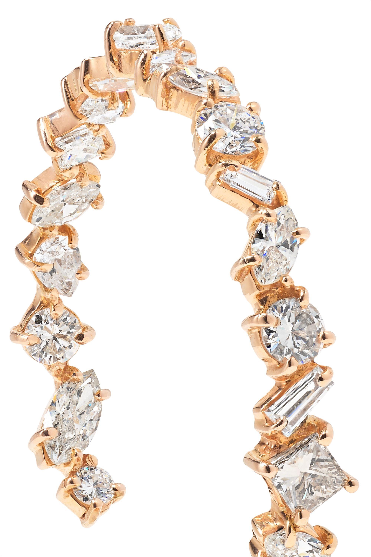 Kimberly McDonald 18-karat rose gold diamond hoop earrings