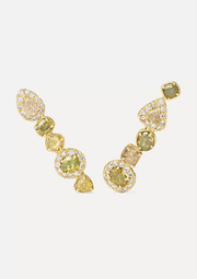 18-karat green gold diamond earrings