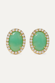 Kimberly McDonald 18-karat green gold, turquoise and diamond earrings