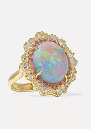 Kimberly McDonald 18-karat green gold multi-stone ring