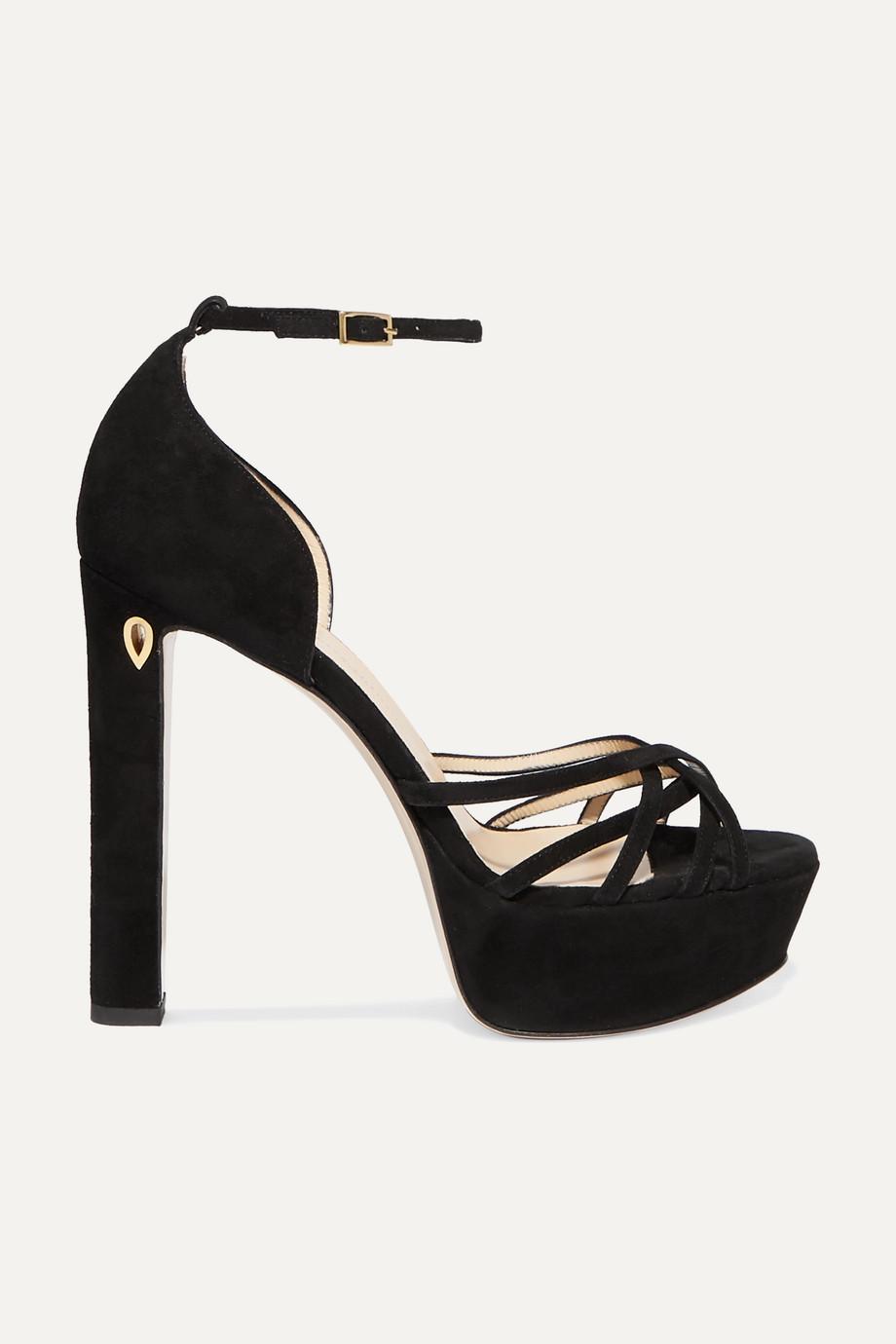 Jennifer Chamandi Roby 130 suede platform sandals