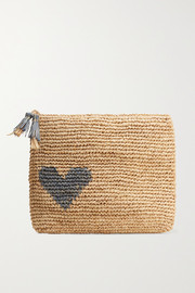 AERIN Beauty Large raffia pouch