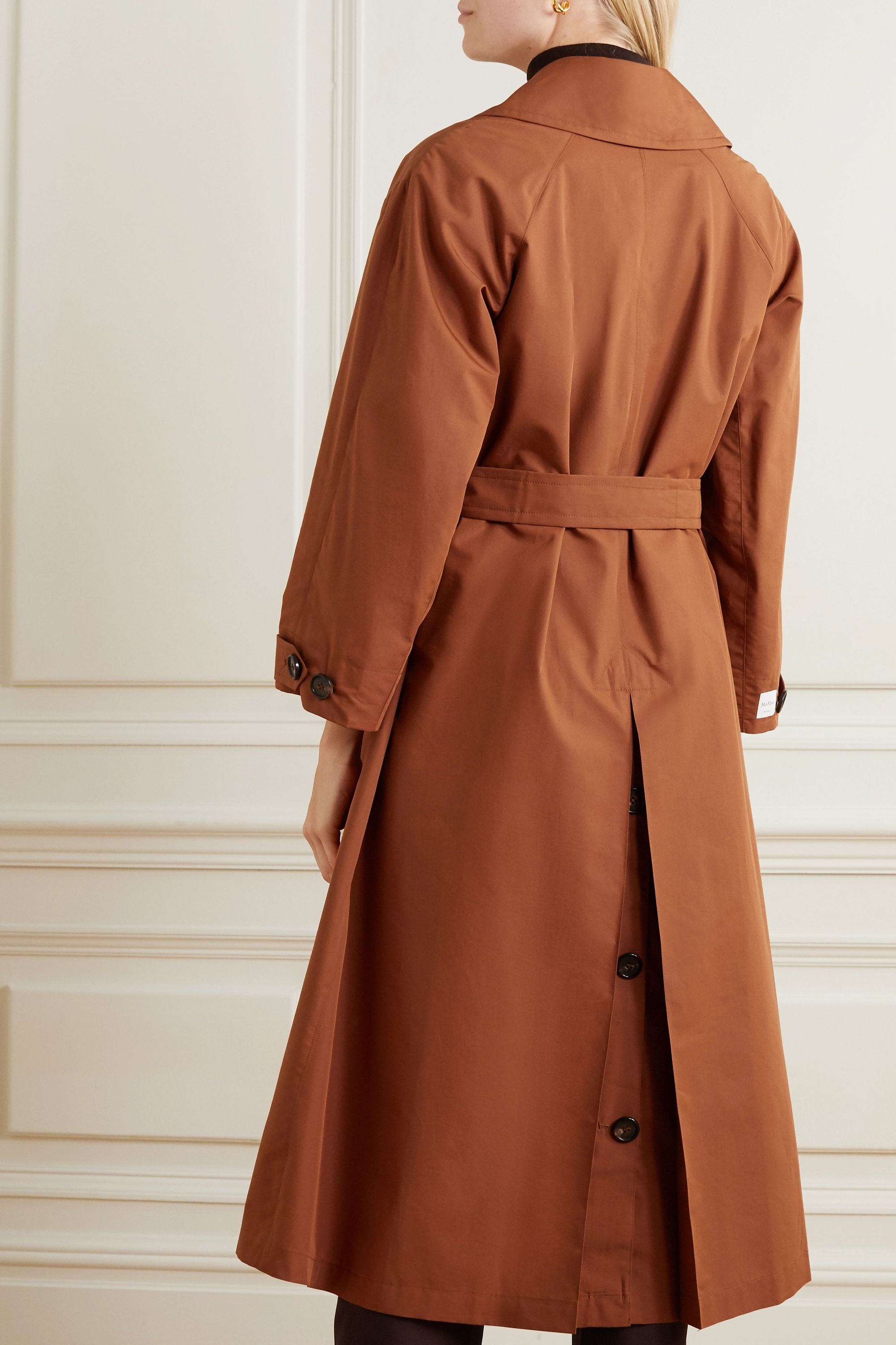Max Mara The Cube cotton and silk-blend trench coat