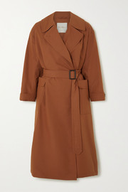The Cube cotton and silk-blend trench coat