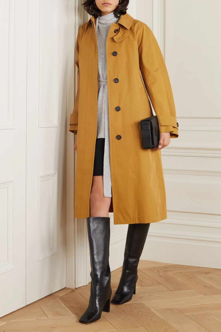 Max Mara The Cube belted gabardine trench coat