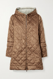 Max Mara The Cube Enovel hooded quilted shell down jacket