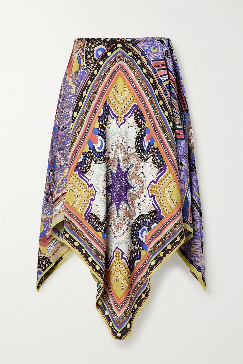 Etro Printed crepe poncho