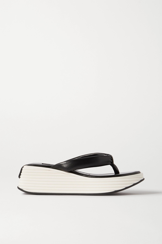 Givenchy Kyoto leather platform flip flops