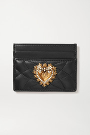 Devotion embellished quilted leather cardholder