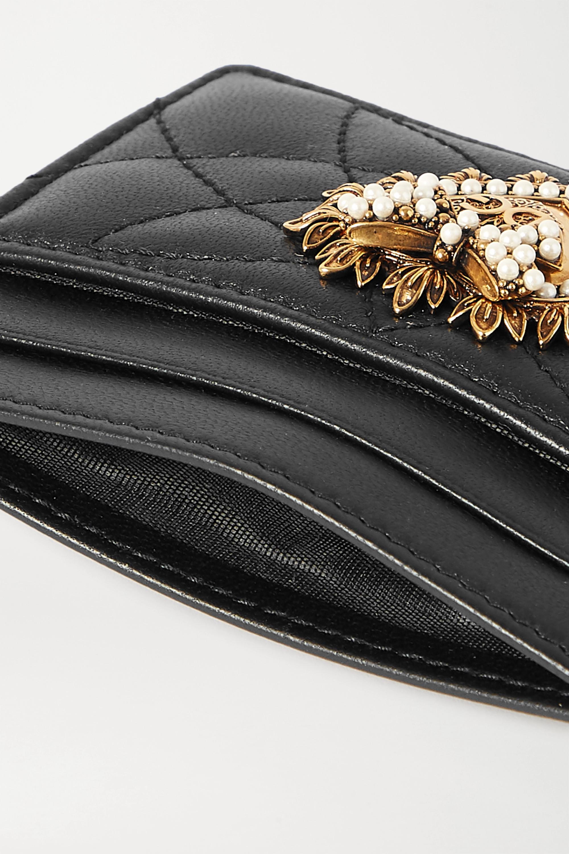 Dolce & Gabbana Devotion embellished quilted leather cardholder