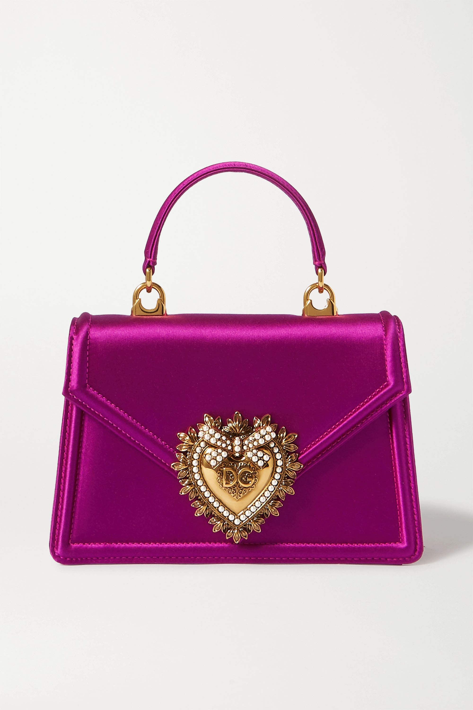 Dolce & Gabbana Devotion mini embellished satin shoulder bag