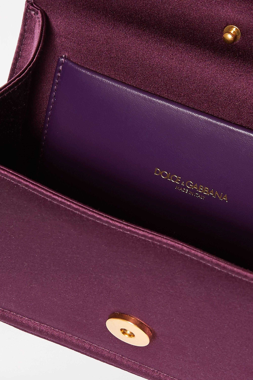 Dolce & Gabbana Devotion mini embellished satin tote