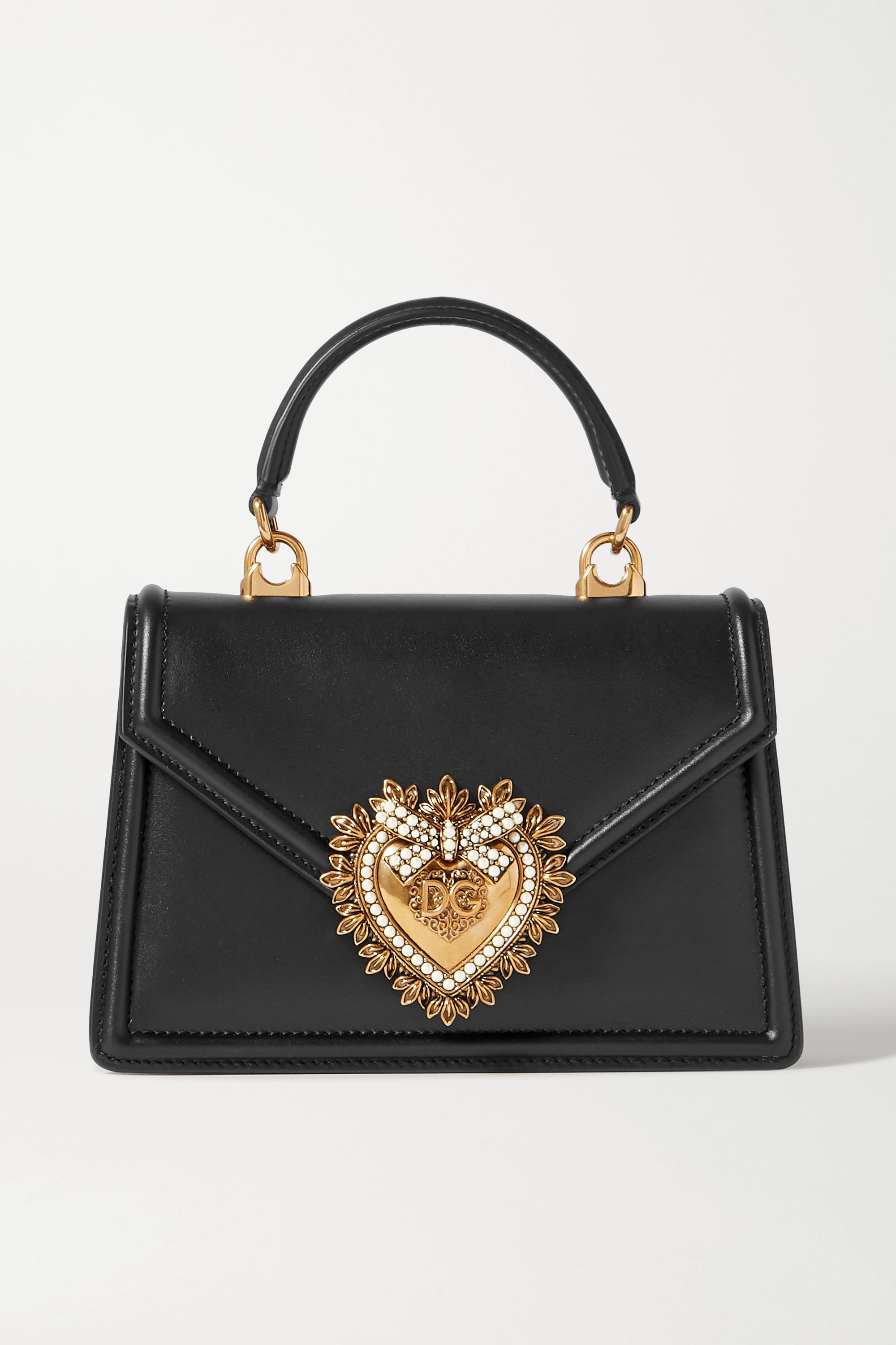 Dolce & Gabbana Devotion mini embellished leather tote