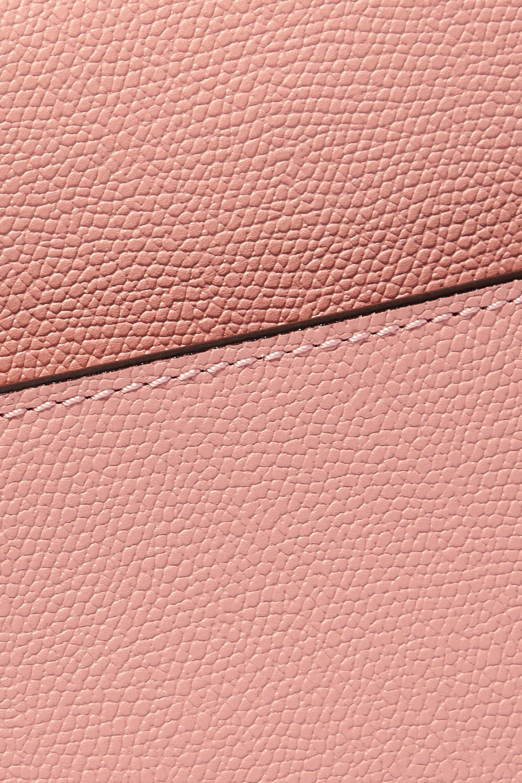 Valextra Serie S 纹理皮革小号手提包