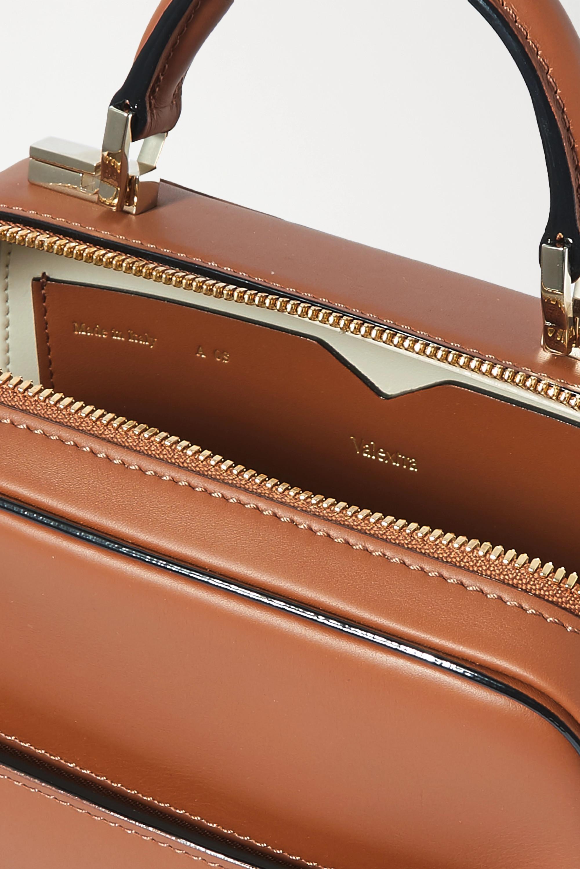 Valextra Series S 小号皮革手提包
