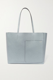 Shopping textured-leather tote