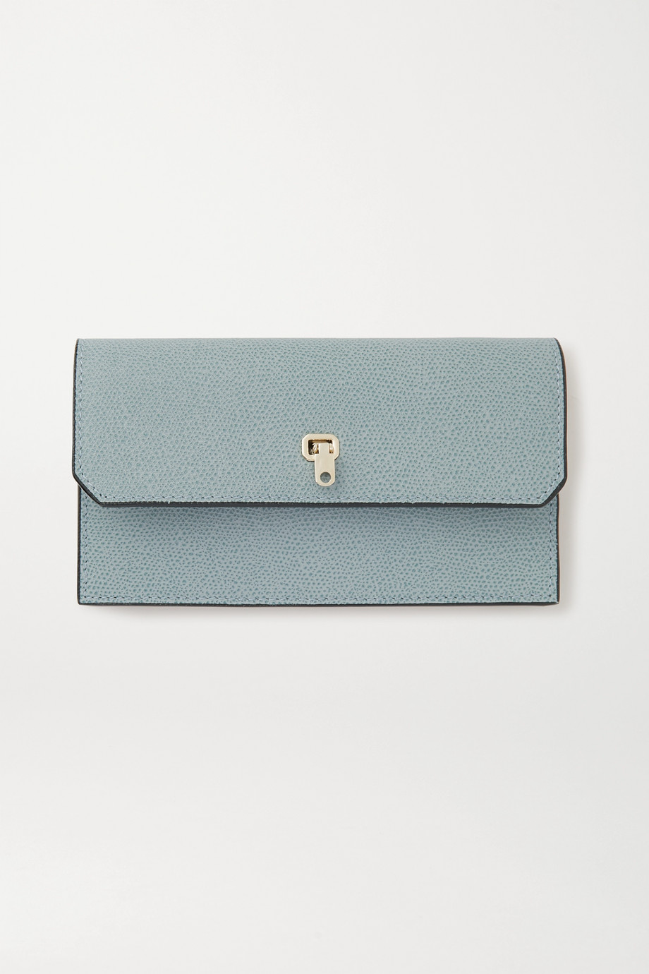 Valextra Brera textured-leather wallet and cardholder set