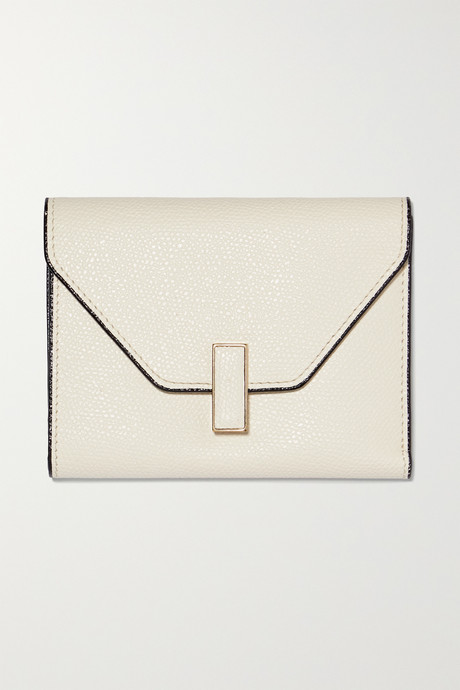 White Iside textured-leather wallet | Valextra 5sqCsy