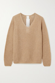 Max Mara Leisure Posato metallic ribbed open-knit sweater