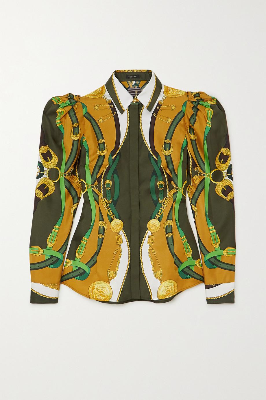 Versace Printed satin shirt